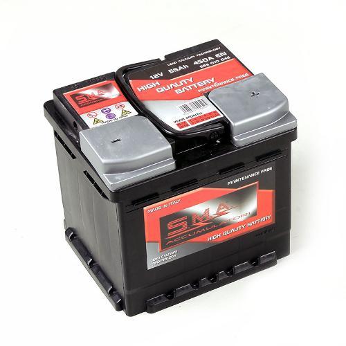 Batterie de démarrage voiture 55ah série Din