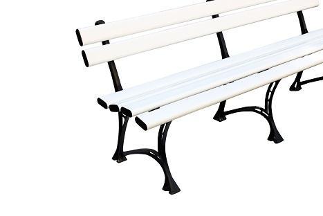 Скамейка пвх , скамейка белая , скамейка пластиковая, лавка