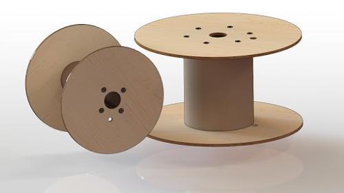 фанерная катушка (барабан) для намотки кабеля, троса