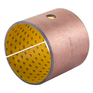 Wrapped composite sliding bearing steel / POM
