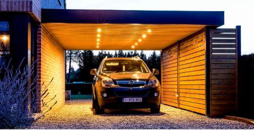 Carport bois et aluminium