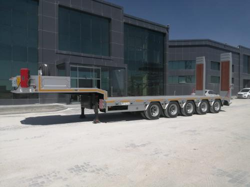 4 axels lowbed semi trailers