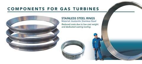 Gussteile für Wass und Gas Turbinen