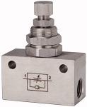 Throttle check valve, in block shape, Stainless steel, G 1/4