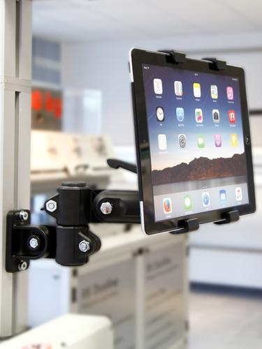 Tablet-Halterung (iPAD, Tablet PC, Displays) für RK Monitorhalterung