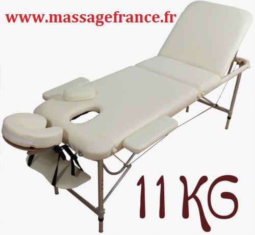 Table de massage legere 11 kilos Aluminium
