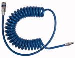 Spiral hose coupling set, PUR, Hose 12x8, Length 8.0 m