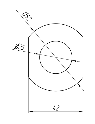 Aluminum Profile For Electrical Purposes Ат-1024
