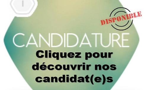 Nos candidats disponibles immédiatements