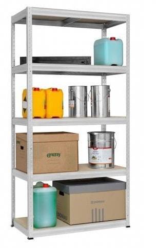 Etagère bois/métal pour rangement garage 180x90x45cm