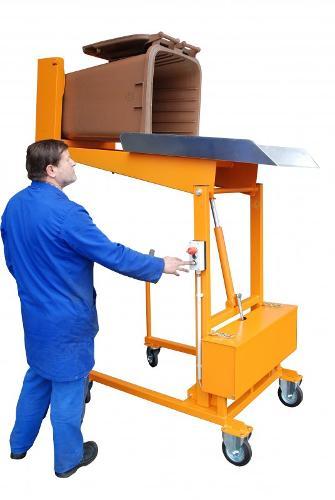 Wheelie bin tipping station type MKS