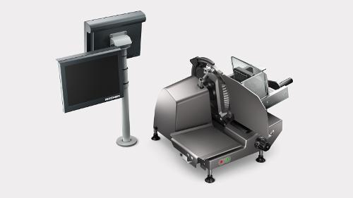 Manual vertical slicer and scale combination VSC280 Flex
