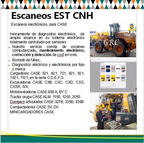 diagnostico y escaneo de maquinaria CASE - ETS CNH