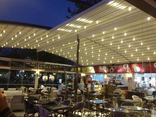 CAFE Pergola Tente-Pergolas made in turkey
