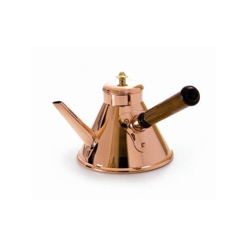 Verseuse à café normande en cuivre avec manche en bois