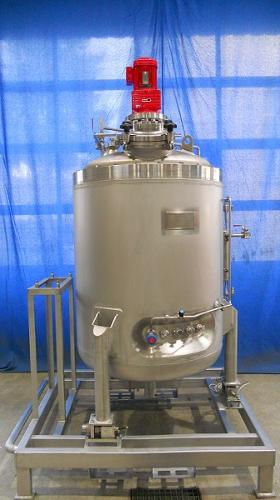 Sterile container, mixing tank