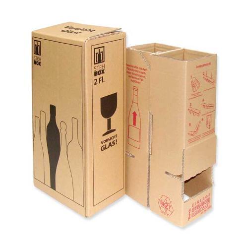 15 x 2-er Flaschenversandkarton für DHL + UPS