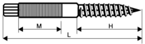 Stockschrauben mit Sechskantantrieb