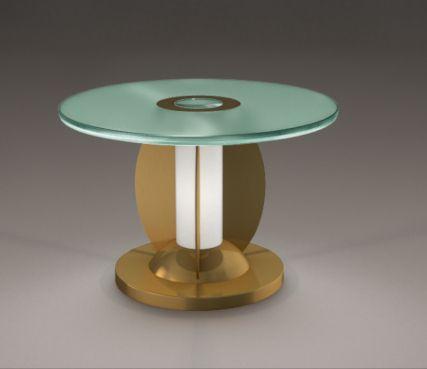 Gueridon lighted pedestal table