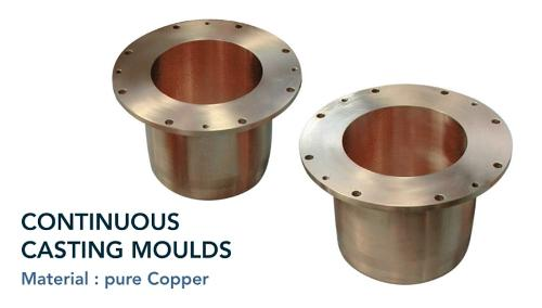 Continuous casting moulds