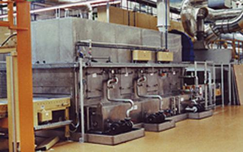 Banddurchlaufwäscher für Metallteile