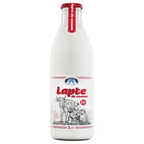 Lapte 3,5% 1L (sticla de sticla)