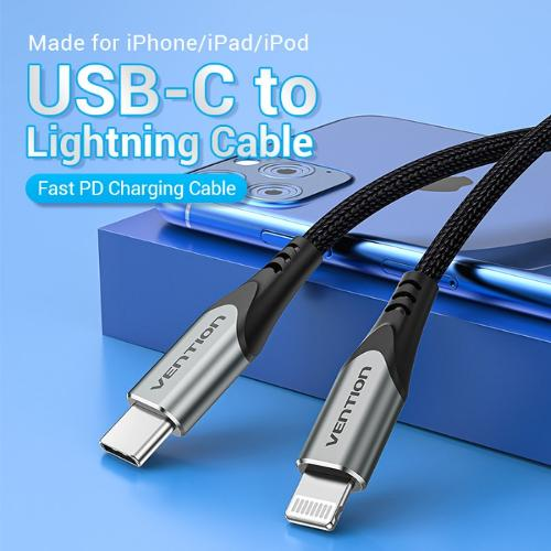 Vention Data Cable Mfi Certified Usb C To Lightning cable