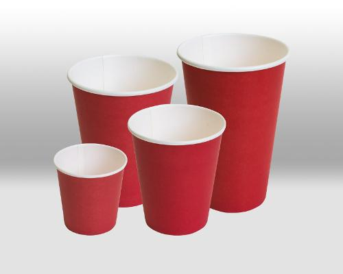 RED paper cups