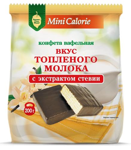 Waffle sweets Baked milke flavor with chocolate with stevia