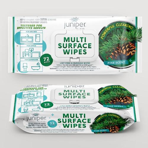 Multi Surface Cleaning Wet Wipes with Pine Oil