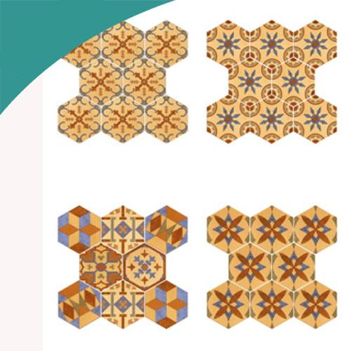 ceramic tile with multi color
