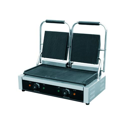 "GRILL DE CONTACT ""PANINI"" PROFESSIONNEL, DOUBLE"