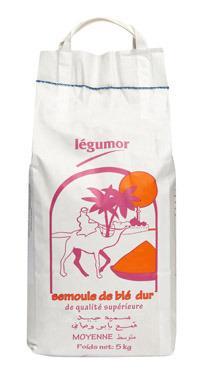 Semoule blé dur moyenne 5kg - LEGUMOR