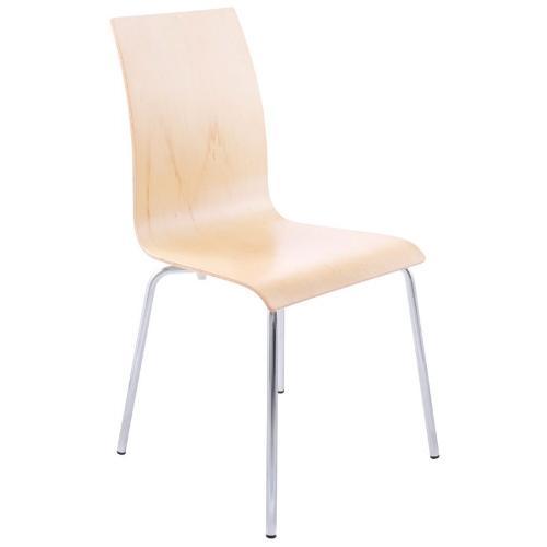 Chaise OUST en bois et métal chromé bois naturel