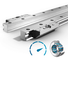 Linear Guides Type Fdh-R Pair Of Single Rails And Pair Of Roller Shoes Highly