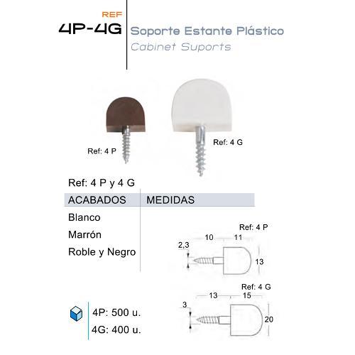 Soporte Estante Plástico 4P-4G