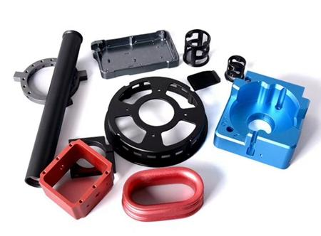 Precision Aluminum parts color anodizing