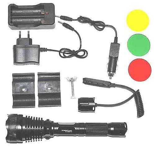 latarka taktyczna wojskowa police myśliwska do broni filtry