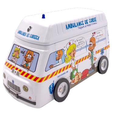 Coffret Metallique Renault Estafette Ambulance - Canistrelli Aux Amandes