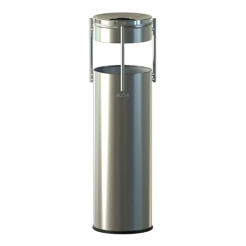 ASHTRAY BIN SATIN WITH STAINLESS LID
