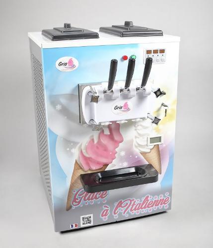 Machine à glace italienne de comptoir 2 parfums + 1 mélange