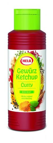 Hela Curry Gewürz Ketchup delikat, 300 ml, Glutenfrei, Vegan