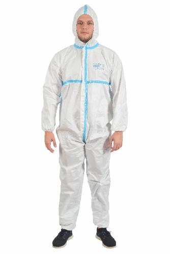 TYPE 3/4 PROTECTIVE COVERALL WITH HOT BANDED