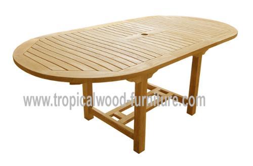 Aqua Teak Garden Extending Table