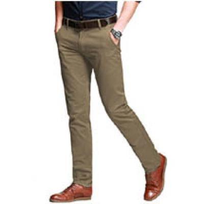 Pantalon classique en coton chino