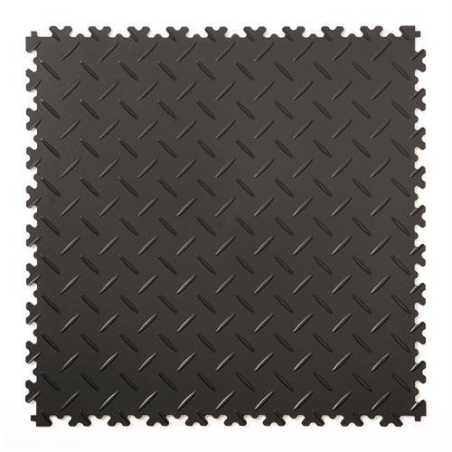 Klickfliese Riffelblech schwarz 50x50cm