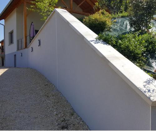 Couvertines (couvre-murs) en béton