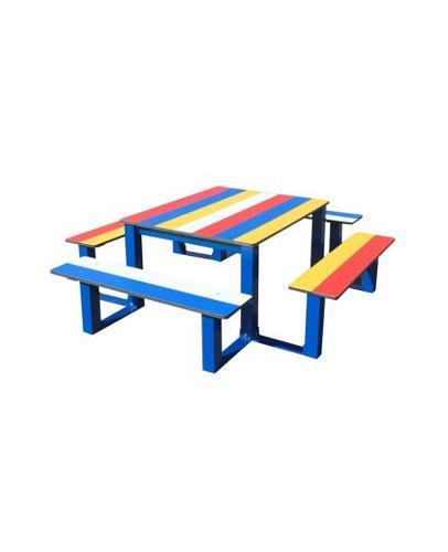 Table Pique Nique Enfants Arc En Ciel En Compact