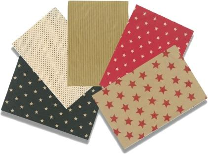 Patterned & Plain Brown Paper