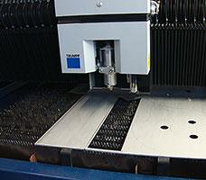CNC laser cutting and CNC press braking